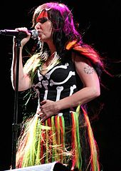Björk at Coachella 2007, Photo: Paul Familetti. Licensed under Creative Commons